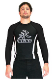 "Keiko Long Sleeve Rash Guard ""Speed"" Black & Black"
