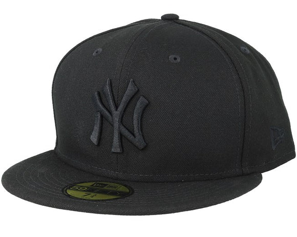 NEW ERA NEW YORK YANKEES BLACK ON BLACK 59FIFTY