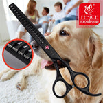 Japanese Stainless steelHigh Quality 7.0 inch 7.5 inch Stainless Steel Pet Thinning Scissors for Dog Grooming thinning rate 75%