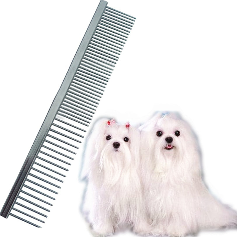 16.5*2.8cm Dog Brush Stainless Steel Pin Brush Comb For Dogs Cats High Quality Hairbrush Dog Grooming Tool Wholesale #F#40DC20