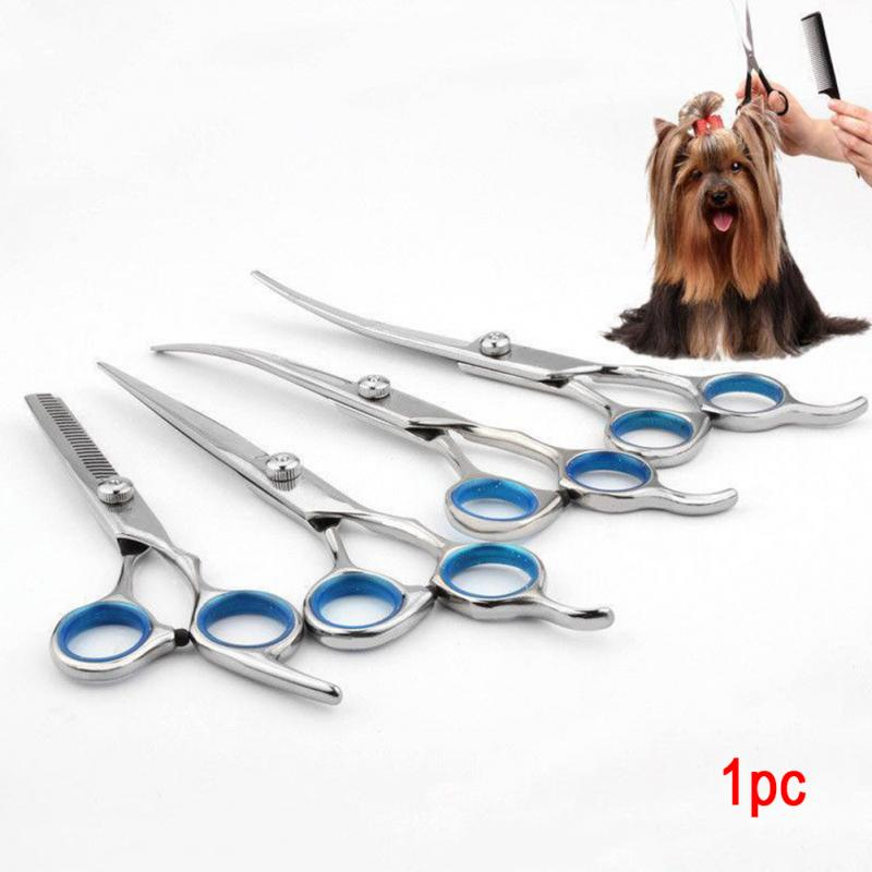 6/ 7 inch Professional Pet Grooming Scissors Straight Thinning Curved Shears Cat Dog for Groomer Hair Cutting Scissoors