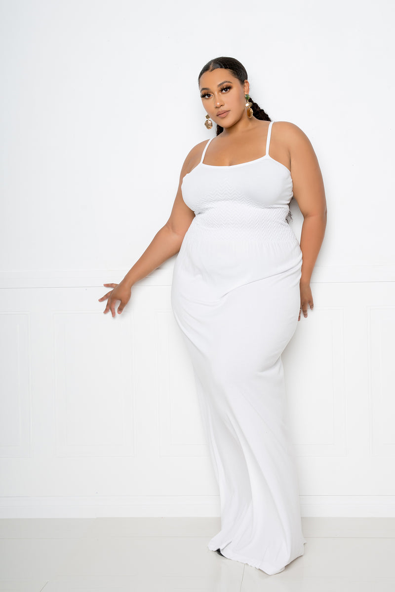 buxom couture curvy women plus size seamless cami dress white ivory