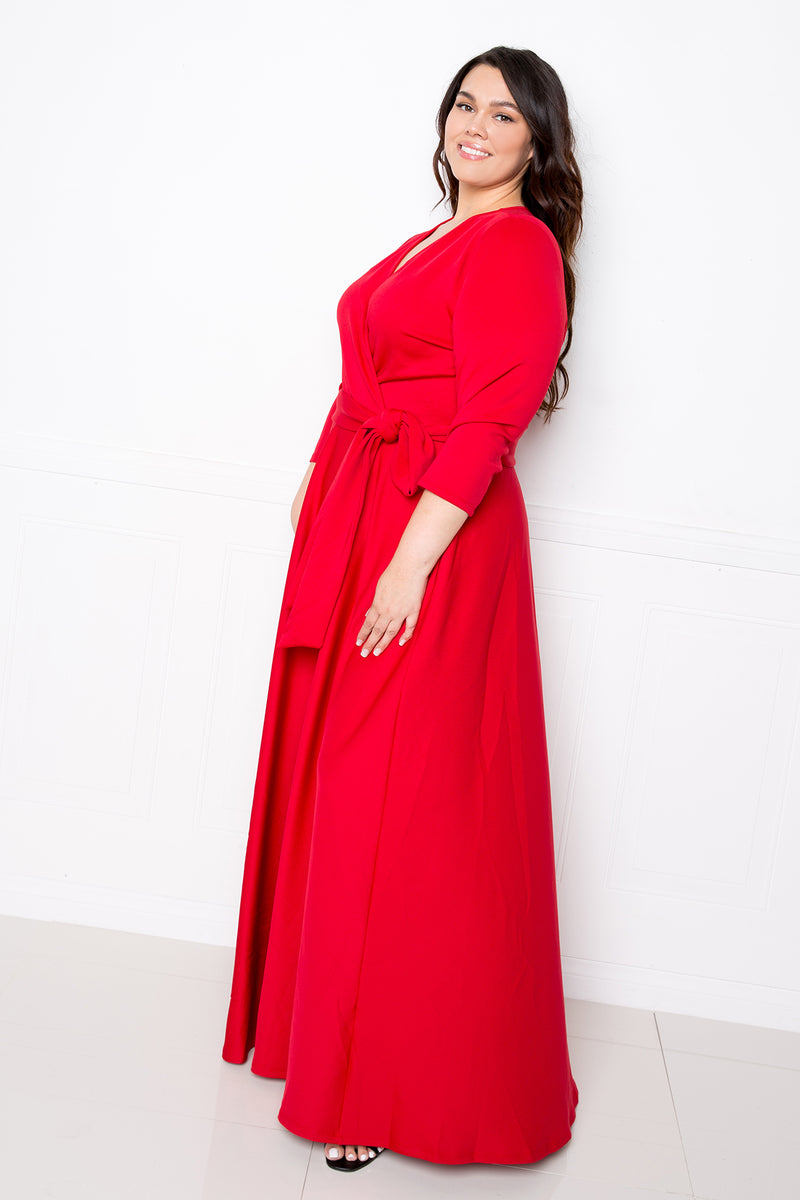 Everyday Surplice Scuba Maxi Dress
