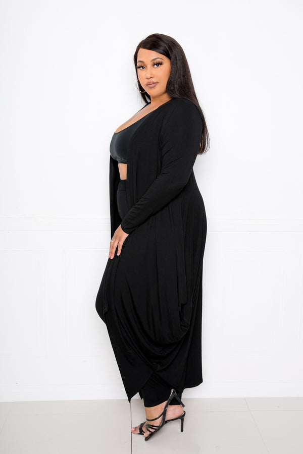 buxom couture curvy women plus size premium modal supersoft lounge set black