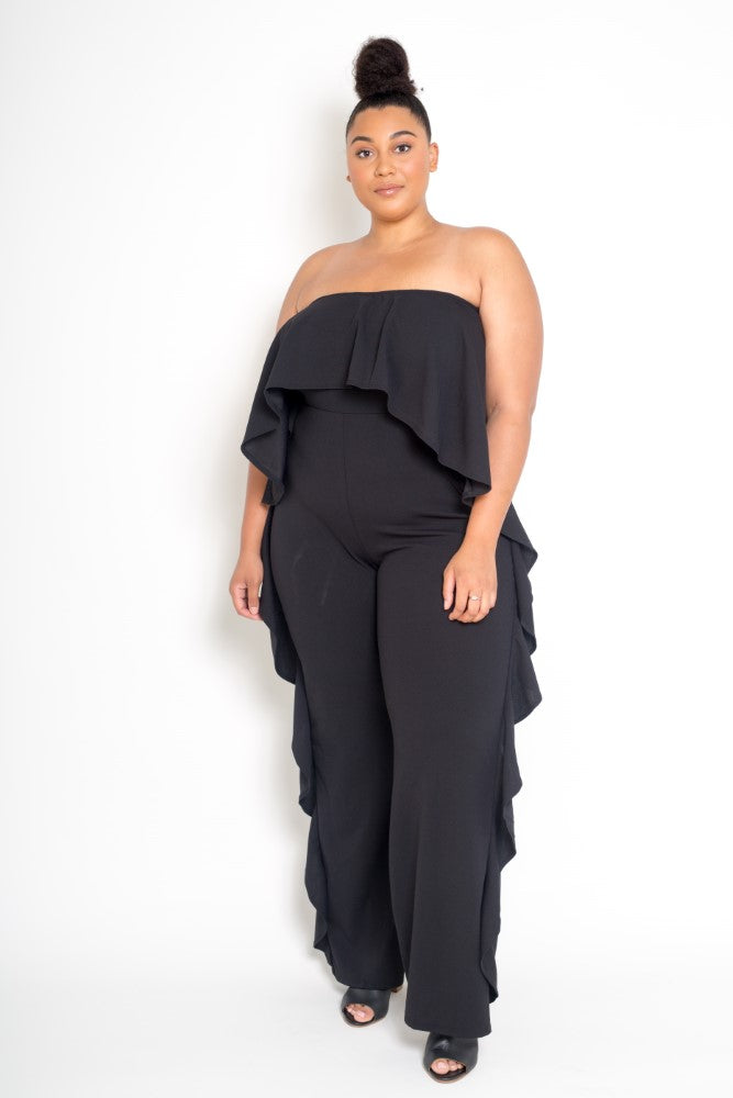 Strapless Ruffled Jumpsuit