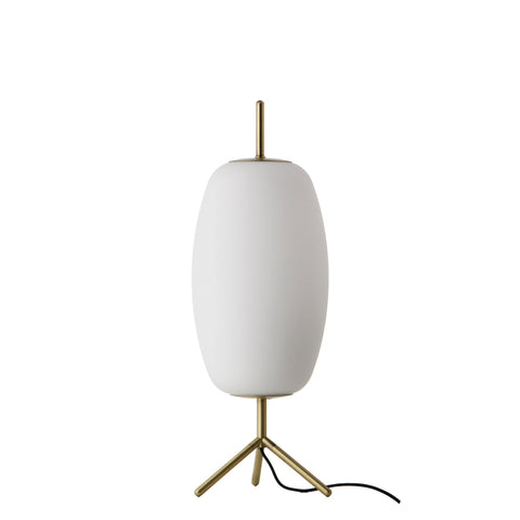 Silk table | opal white brass - Normo