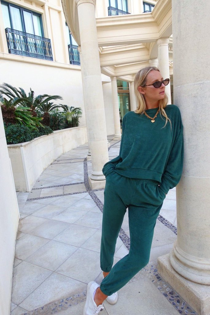Terry Emerald Sweatpant