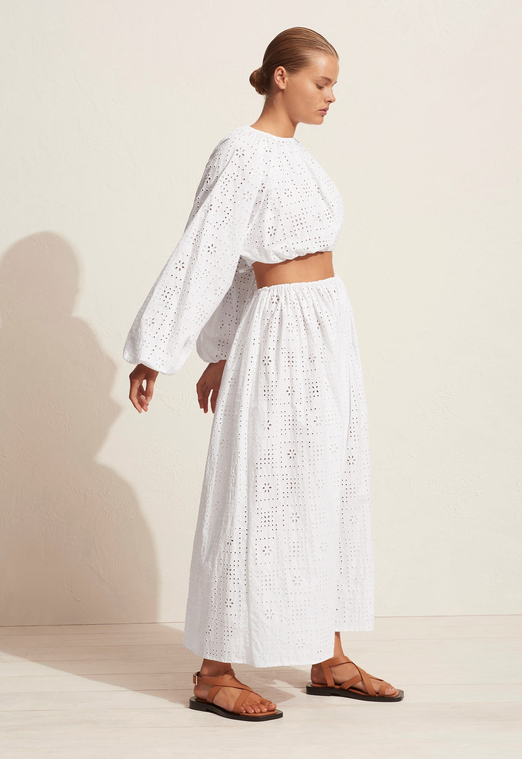 Crochet Broderie Skirt White