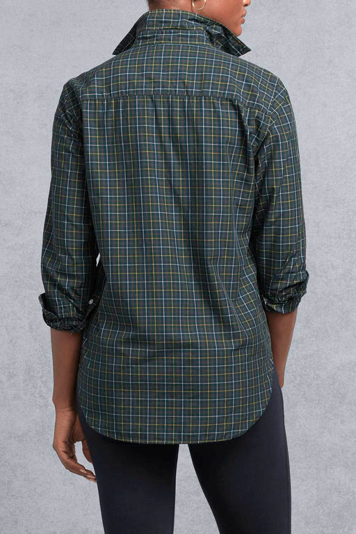 Frank Poplin Green & Yellow Plaid