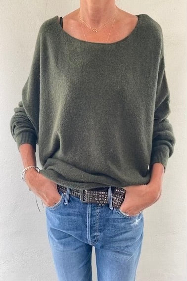 Boat Neck Pullover Pesto