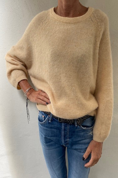 Boat Neck 7/8 Sleeve Sweater Biscotti