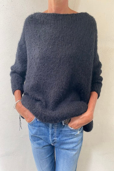 Boat Neck Boolder Jumper Black