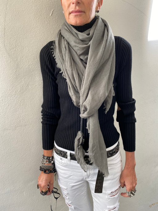 Swashy Scarf Green Grey