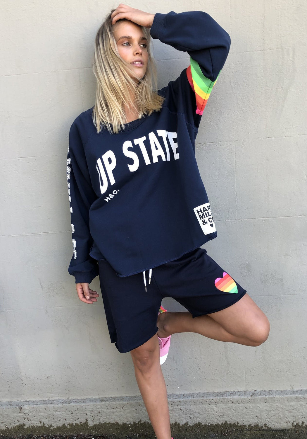 Retro Track Short Navy
