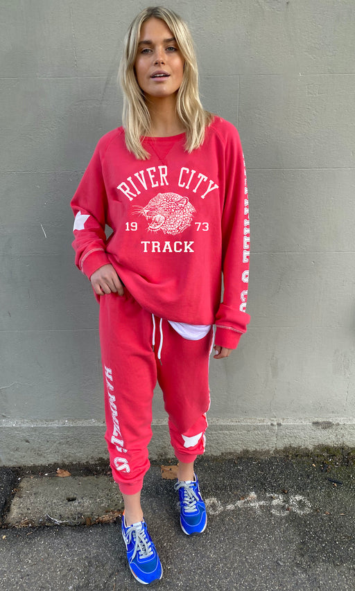Varsity Track Pant Red