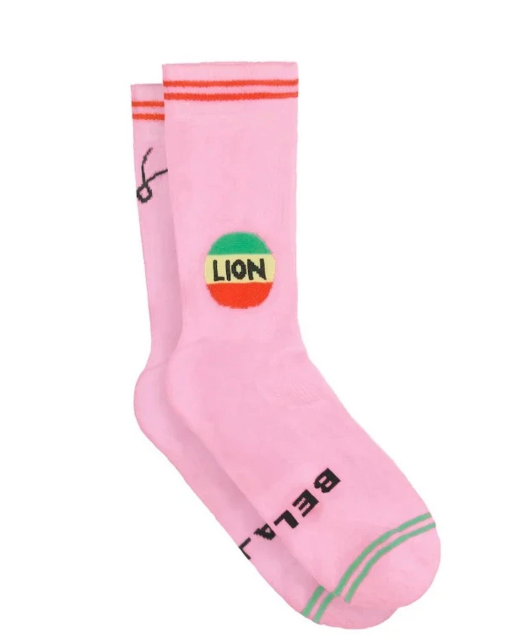 Lion Cotton Socks Pink