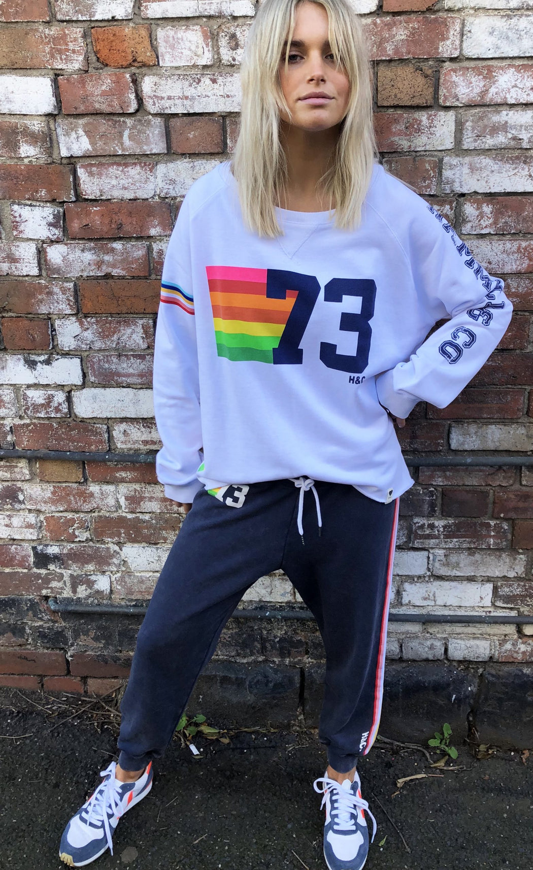 White Vintage 73 Sweat