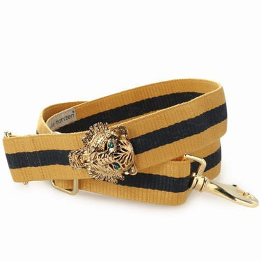 Bag Strap Yellow Blue - Gold Tiger Green Eye