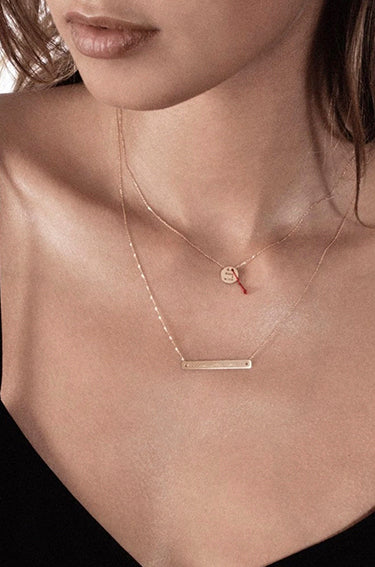 Bonnie & Clyde Rose Gold Pendant Necklace