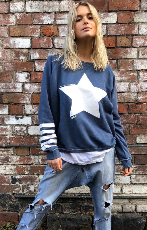 Star Sweat Washed Navy