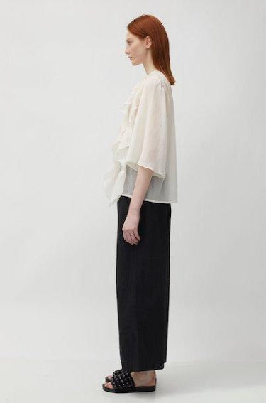 Bologna Ruffle Shirt Off White