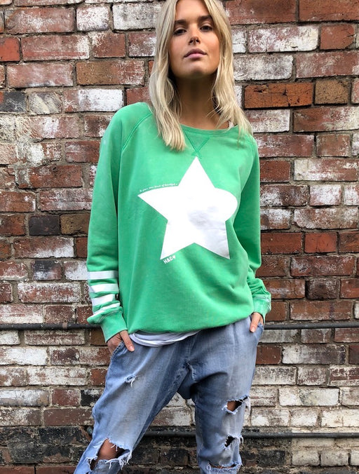 Star Sweat Washed Green