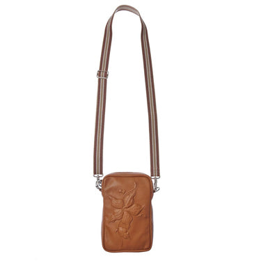 Camera Bag Flower Cognac