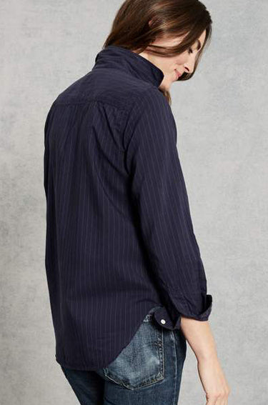 Frank Cotton Navy White Stripe