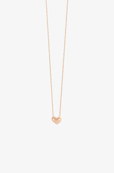 Angie Rose Gold Full Heart Necklace