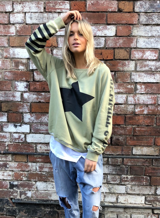 Star Sweat Washed Khaki