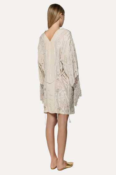 Silk Fringe Dress