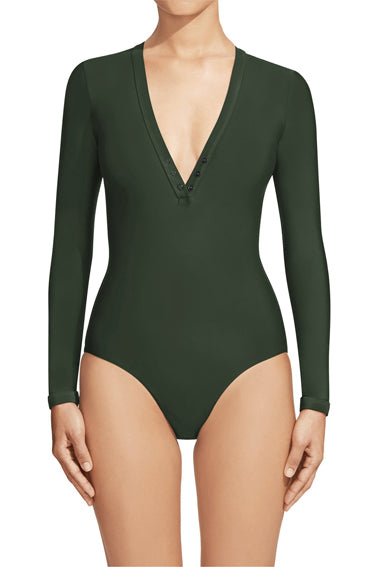 Long Sleeve Maillot Moss