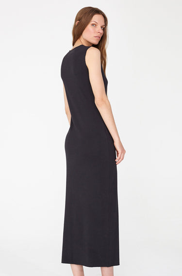 Ribbed Midi Dress Black