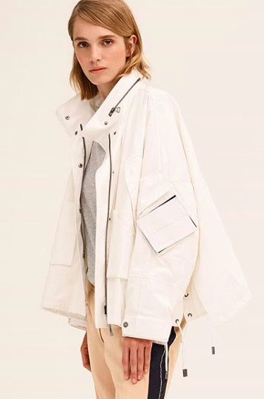 Bachette Cotton Parka Winter White