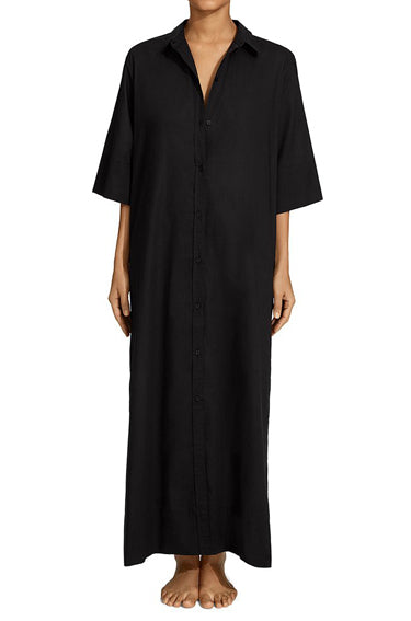 The Shirt Dress Black