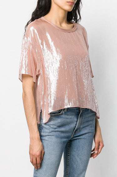 Silk T-Shirt Cipria