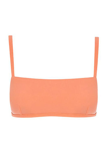 Square Crop Top Coral