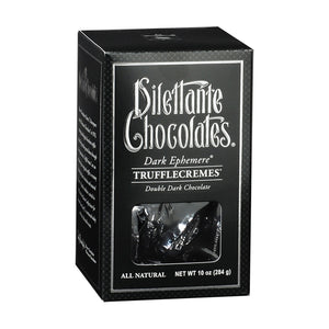 Ephemere TruffleCremes in Dark Chocolate Gift Box. All natural. Brand: Dilettante, USA.