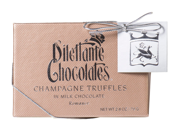 Champagne Truffles Specialty Gift Box - 6 Piece. Brand: Dilettante, USA.