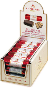 Chocolate Covered Small Marzipan Loaf. Brand: Niederegger, Germany.