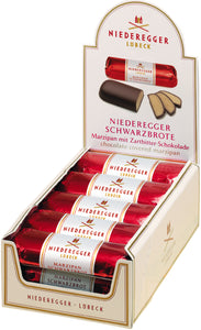 Chocolate Covered Marzipan Loaf. Brand: Niederegger, Germany.