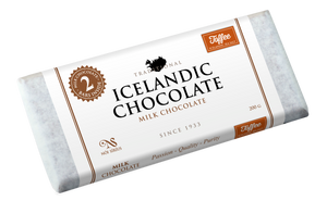 Milk Chocolate Toffee & Sea Salt 2-pack Bar 33%. With Icelandic sea salt. Brand: Noi Sirius, Iceland.