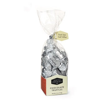 Dark Sea Salt Toffee Truffles Gourmet Gift Bag. Gluten-Free. Non-GMO. Kosher Dairy. Brand: Seattle Chocolate, USA.