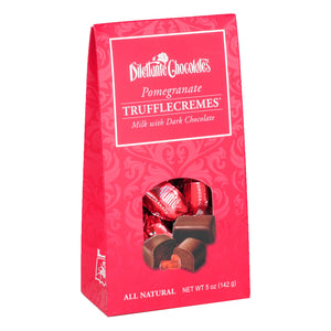 TruffleCremes Pomegranate Tent Gift Box. All natural. Brand: Dilettante, USA.