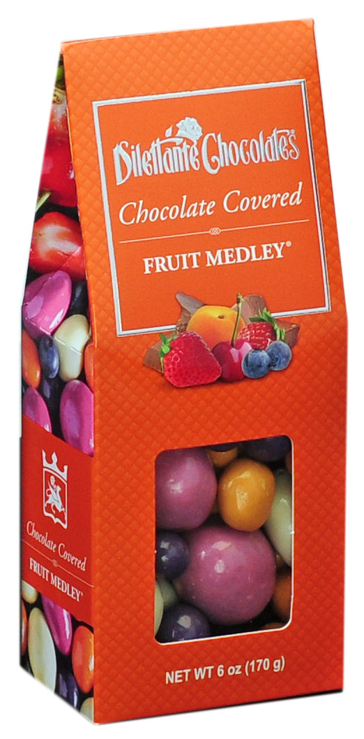All Natural Panned Fruit Medley Gift Box. Non-GMO.  All natural. Brand: Dilettante, USA.