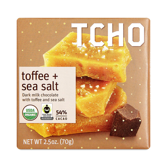 Toffee + Sea Salt Milk Chocolate Bar 54%