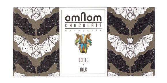 Coffee+Milk bar. Made from coffee beans. Brand: Omnom, Iceland.