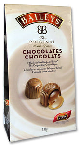 Baileys Irish Cream Liqueur Chocolates. Milk chocolate truffles with Baileys liquor. Brand: Turin, Mexico.