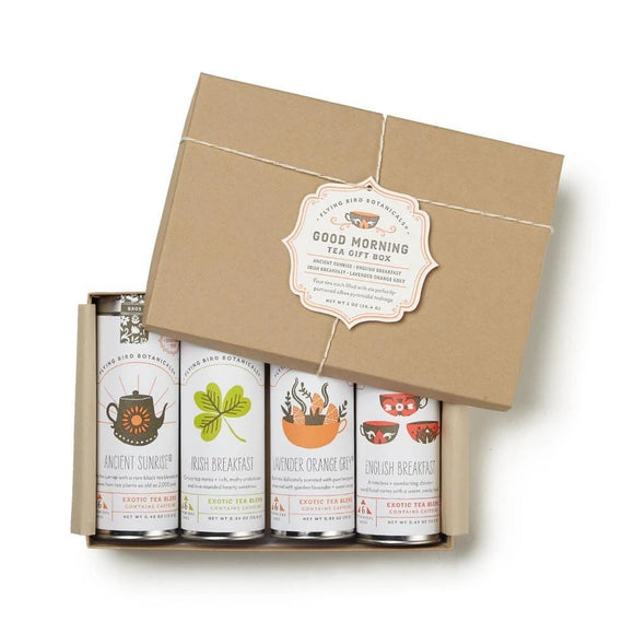 Good Morning Tea Gift Box - 4 Tins, 6 Tea Bags per Tin