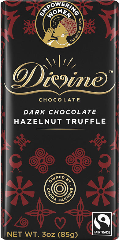 Dark Chocolate Hazelnut Truffle Bar